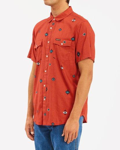 1 Wrangler Distant Land Short Sleeve Shirt Red ABYWT00139 Billabong
