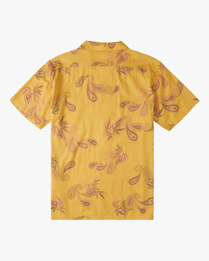 6 Wrangler Hazy Paisley Vacay Short Sleeve Shirt Blue ABYWT00140 Billabong