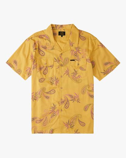 5 Wrangler Hazy Paisley Vacay Short Sleeve Shirt Blue ABYWT00140 Billabong