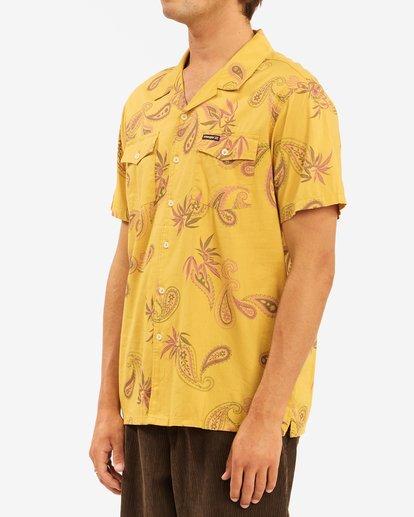 2 Wrangler Hazy Paisley Vacay Short Sleeve Shirt Blue ABYWT00140 Billabong