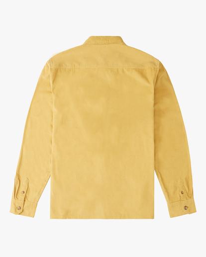 6 Wrangler Bowie Cord Long Sleeve Shirt Yellow ABYWT00145 Billabong