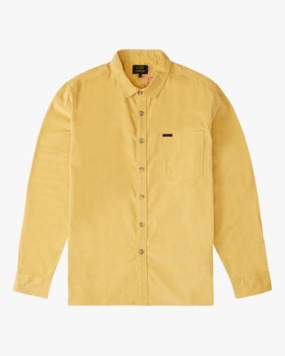 5 Wrangler Bowie Cord Long Sleeve Shirt Yellow ABYWT00145 Billabong