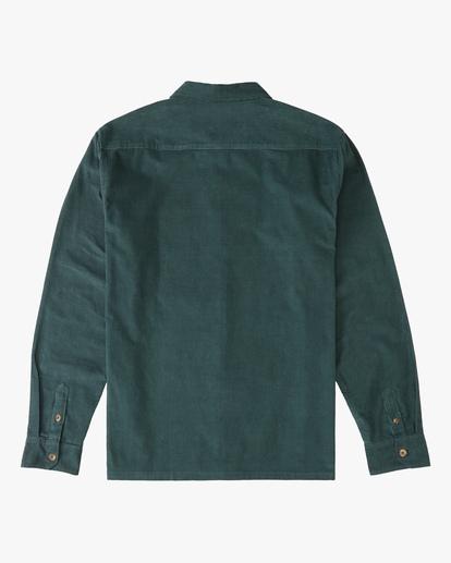 6 Wrangler Bowie Cord Long Sleeve Shirt Green ABYWT00145 Billabong