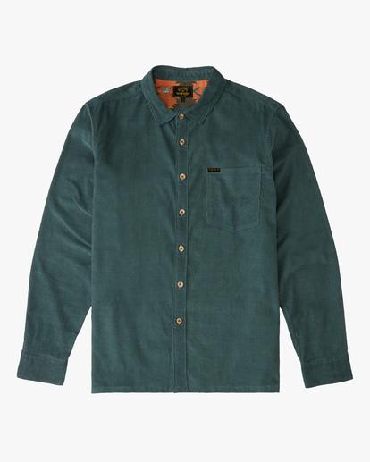 5 Wrangler Bowie Cord Long Sleeve Shirt Green ABYWT00145 Billabong