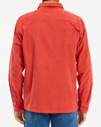 3 Wrangler Bowie Cord Long Sleeve Shirt Red ABYWT00145 Billabong