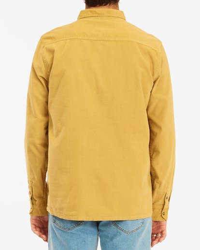 3 Wrangler Bowie Cord Long Sleeve Shirt Yellow ABYWT00145 Billabong