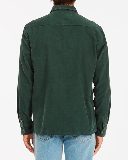 3 Wrangler Bowie Cord Long Sleeve Shirt Green ABYWT00145 Billabong