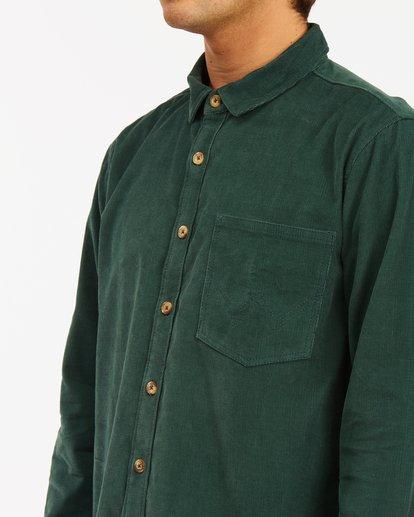 4 Wrangler Bowie Cord Long Sleeve Shirt Green ABYWT00145 Billabong