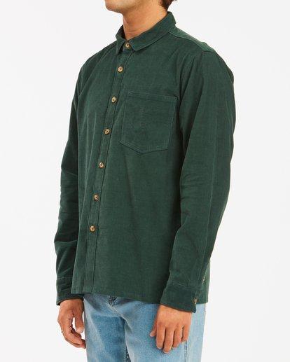 2 Wrangler Bowie Cord Long Sleeve Shirt Green ABYWT00145 Billabong