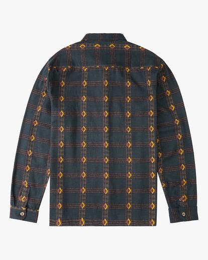 5 Wrangler Knox Jacquard Plaid Flannel Shirt Green ABYWT00147 Billabong