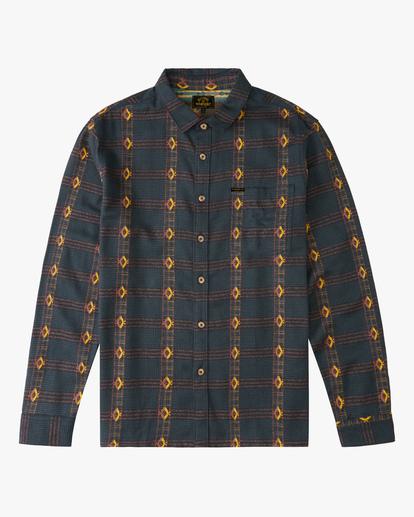 4 Wrangler Knox Jacquard Plaid Flannel Shirt Green ABYWT00147 Billabong