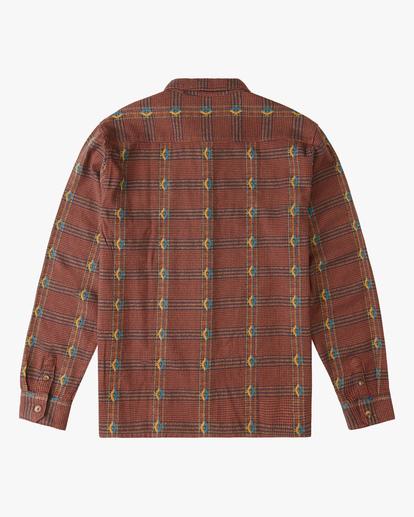 5 Wrangler Knox Jacquard Plaid Flannel Shirt Multicolor ABYWT00147 Billabong