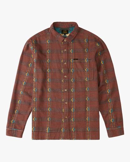 4 Wrangler Knox Jacquard Plaid Flannel Shirt Multicolor ABYWT00147 Billabong