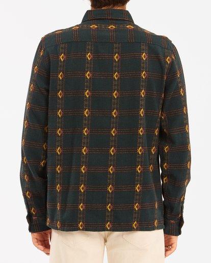 2 Wrangler Knox Jacquard Plaid Flannel Shirt Green ABYWT00147 Billabong