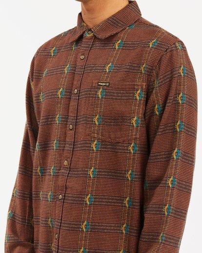 3 Wrangler Knox Jacquard Plaid Flannel Shirt Multicolor ABYWT00147 Billabong