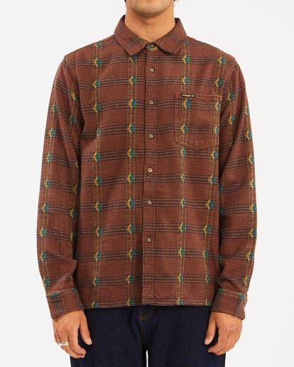 0 Wrangler Knox Jacquard Plaid Flannel Shirt Multicolor ABYWT00147 Billabong
