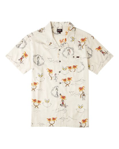 3 Sundays Vacay Grinch Short Sleeve Shirt Brown ABYWT00149 Billabong