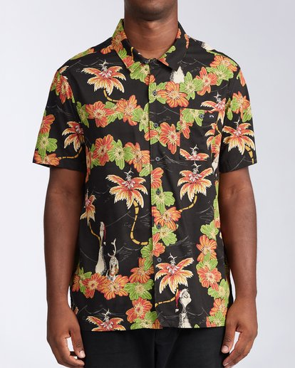 0 Sundays Vacay Grinch Short Sleeve Shirt Black ABYWT00149 Billabong