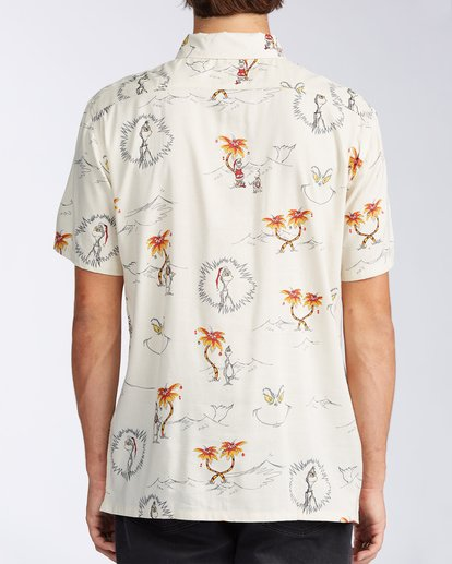 2 Sundays Vacay Grinch Short Sleeve Shirt Brown ABYWT00149 Billabong