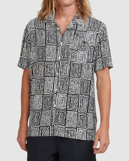1 Otis Sky Short Sleeve Shirt Black ABYWT00151 Billabong
