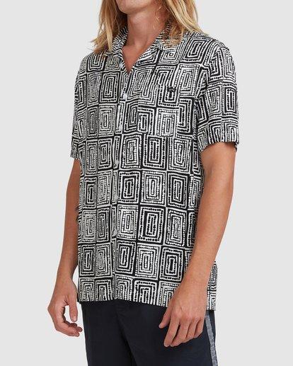 2 Otis Sky Short Sleeve Shirt Black ABYWT00151 Billabong