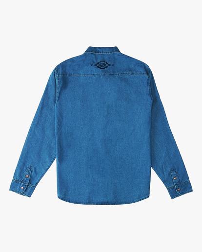 6 Wrangler Morgan Denim Long Sleeve Shirt Blue ABYWT00153 Billabong