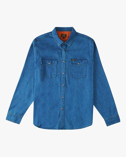 5 Wrangler Morgan Denim Long Sleeve Shirt Blue ABYWT00153 Billabong