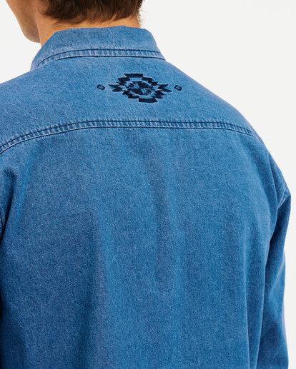 3 Wrangler Morgan Denim Long Sleeve Shirt Blue ABYWT00153 Billabong