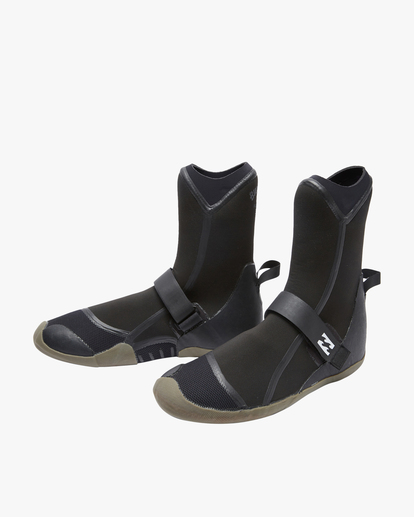 1 7mm Furnace Round Toe Wetsuit Boots Black ABYWW00105 Billabong