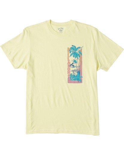 3 Olas Short Sleeve T-Shirt Yellow ABYZT00116 Billabong
