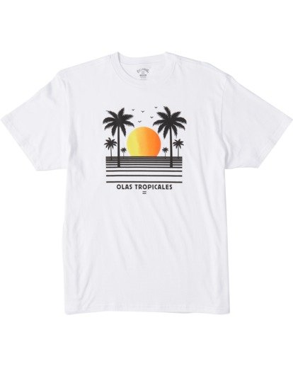 3 Olas Short Sleeve T-Shirt White ABYZT00116 Billabong