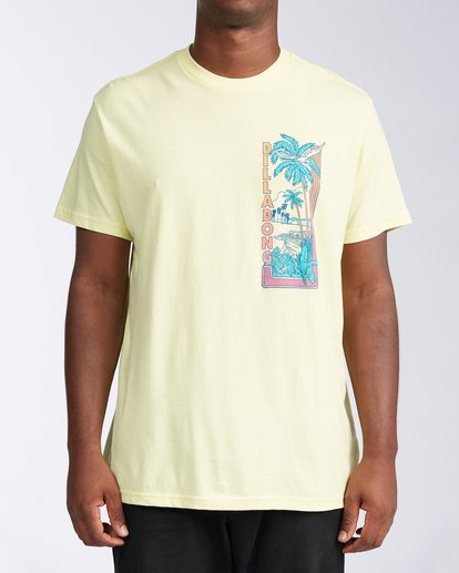 0 Olas Short Sleeve T-Shirt Yellow ABYZT00116 Billabong