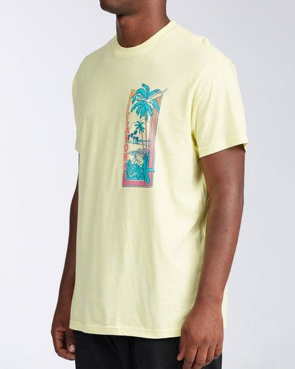 1 Olas Short Sleeve T-Shirt Yellow ABYZT00116 Billabong