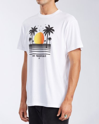 1 Olas Short Sleeve T-Shirt White ABYZT00116 Billabong