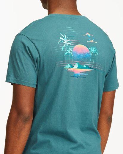 3 Desert Oasis Short Sleeve T-Shirt Blue ABYZT00129 Billabong