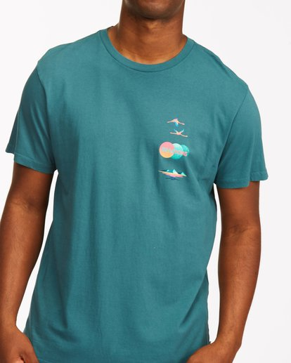 4 Desert Oasis Short Sleeve T-Shirt Blue ABYZT00129 Billabong