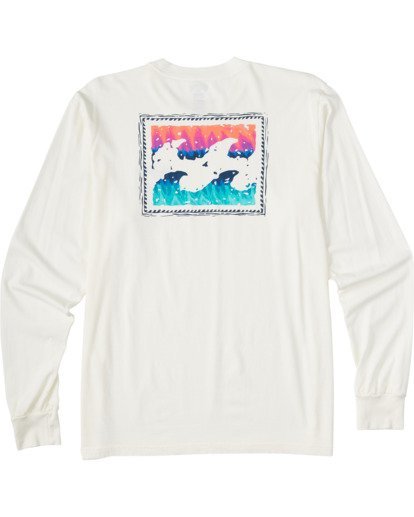4 Crayon Wave Long Sleeve T-Shirt White ABYZT00133 Billabong