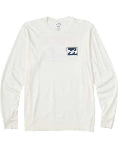 3 Crayon Wave Long Sleeve T-Shirt White ABYZT00133 Billabong