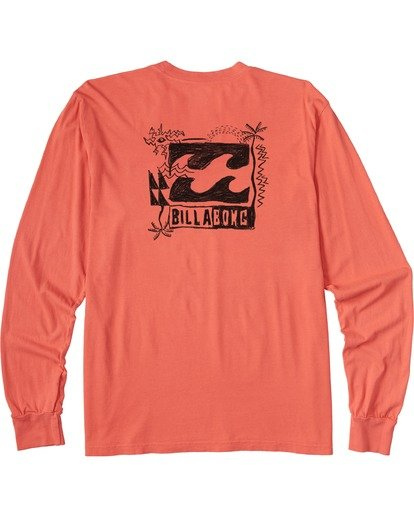 4 Crayon Wave Long Sleeve T-Shirt Orange ABYZT00133 Billabong