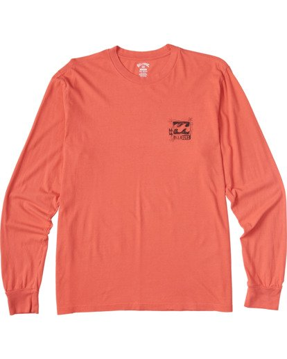 3 Crayon Wave Long Sleeve T-Shirt Orange ABYZT00133 Billabong