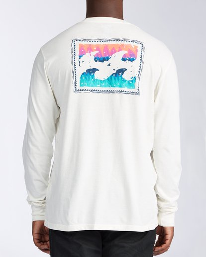 2 Crayon Wave Long Sleeve T-Shirt White ABYZT00133 Billabong