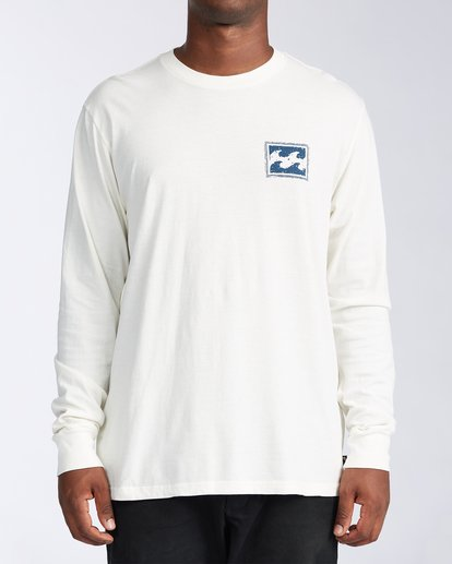0 Crayon Wave Long Sleeve T-Shirt White ABYZT00133 Billabong