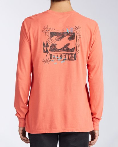 2 Crayon Wave Long Sleeve T-Shirt Orange ABYZT00133 Billabong