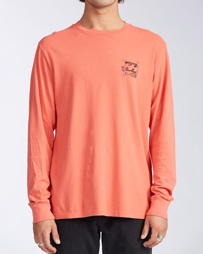 0 Crayon Wave Long Sleeve T-Shirt Orange ABYZT00133 Billabong