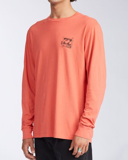 1 Crayon Wave Long Sleeve T-Shirt Orange ABYZT00133 Billabong