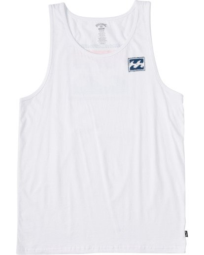 5 Crayon Wave Tank Top White ABYZT00142 Billabong