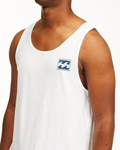 4 Crayon Wave Tank Top White ABYZT00142 Billabong