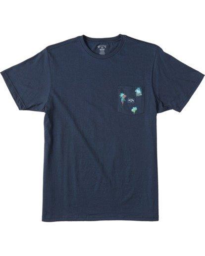 4 Team Wave Mini Pocket T-Shirt Blue ABYZT00147 Billabong