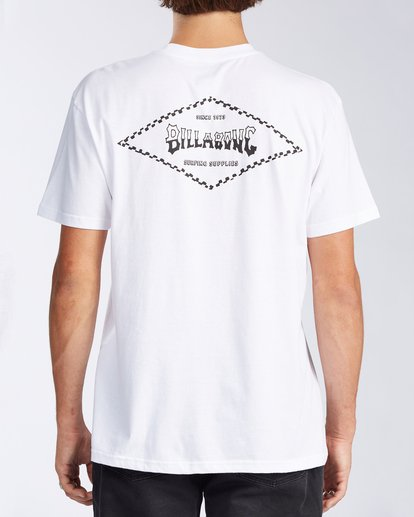 2 Checked Diamond Short Sleeve T-Shirt White ABYZT00163 Billabong