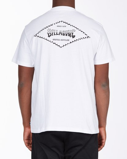 5 Checked Diamond Short Sleeve T-Shirt White ABYZT00163 Billabong
